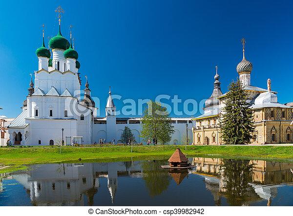 Rostov Kremlin. Golden Ring of Russia. - csp39982942