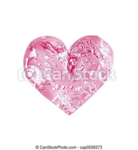 rosy heart - csp0558373