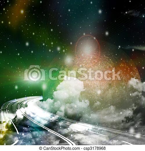 rota, espaço - csp3178968