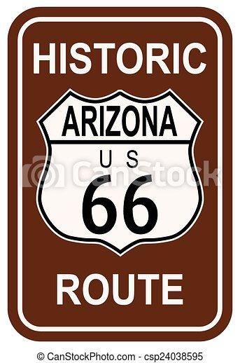 rota, histórico, 66, arizona - csp24038595