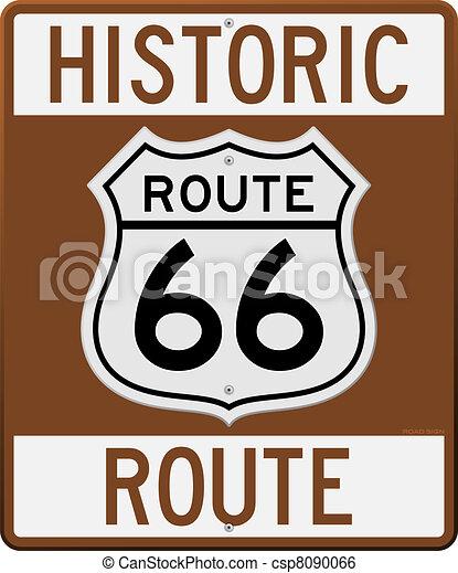 rota, histórico, 66, sinal - csp8090066