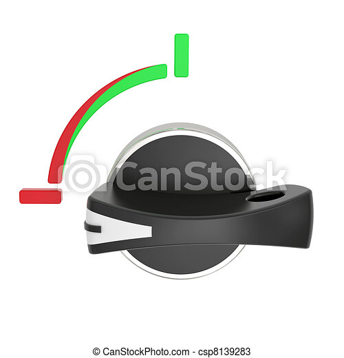 Rotary horizontal switch isolated on white - csp8139283