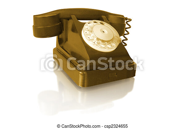 rotary old vintage telephone - csp2324655