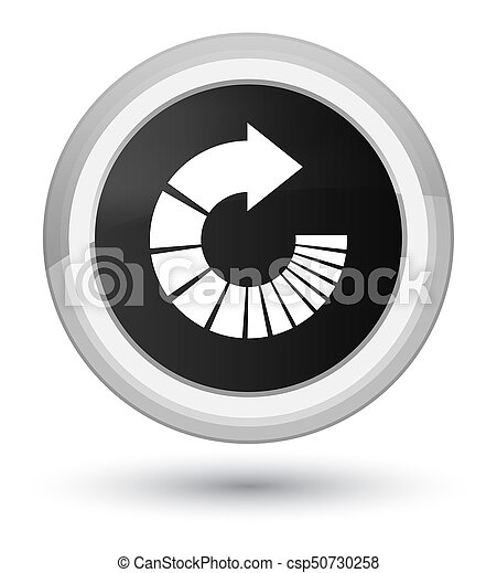 Rotate arrow icon prime black round button - csp50730258