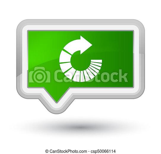 Rotate arrow icon prime green banner button - csp50066114