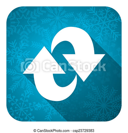 rotation flat icon, christmas button, refresh sign - csp23729383