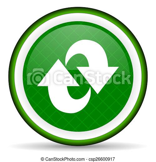 rotation green icon refresh sign - csp26600917