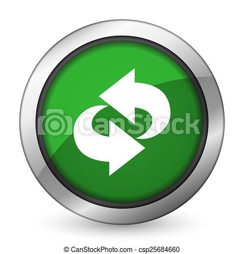 rotation green icon refresh sign - csp25684660