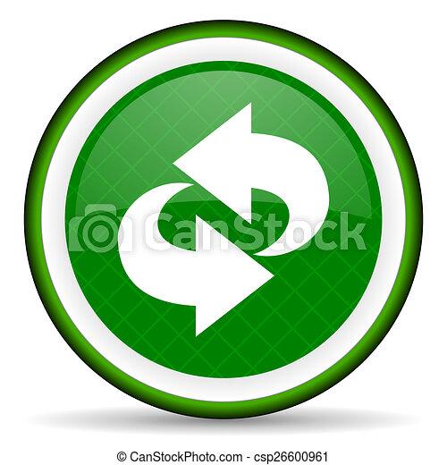 rotation green icon refresh sign - csp26600961