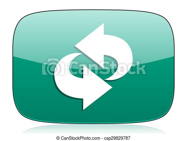 rotation green icon refresh sign - csp29829787