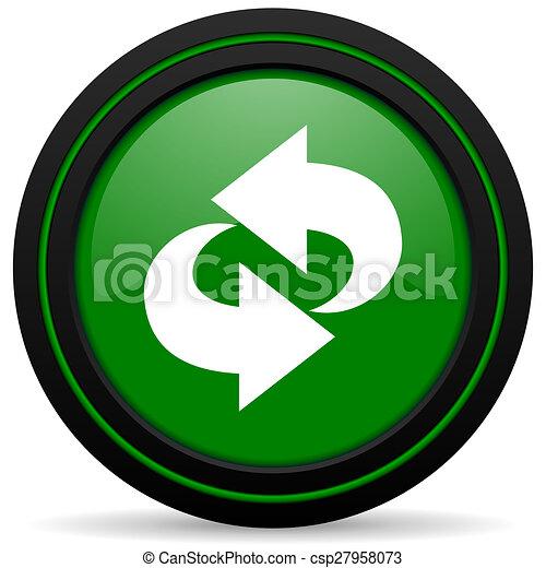 rotation green icon refresh sign - csp27958073