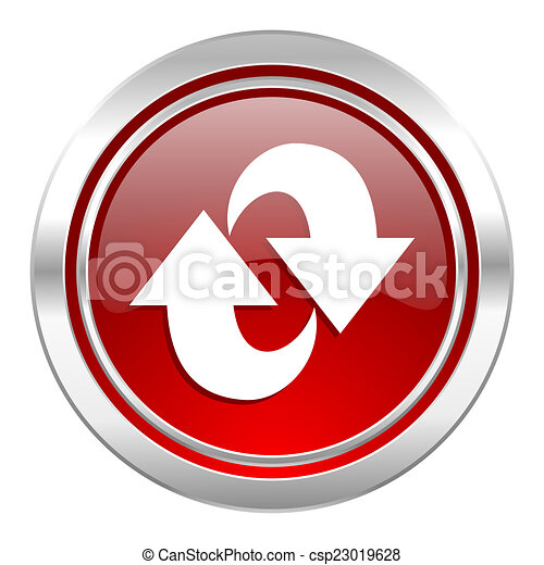 rotation icon, refresh sign - csp23019628