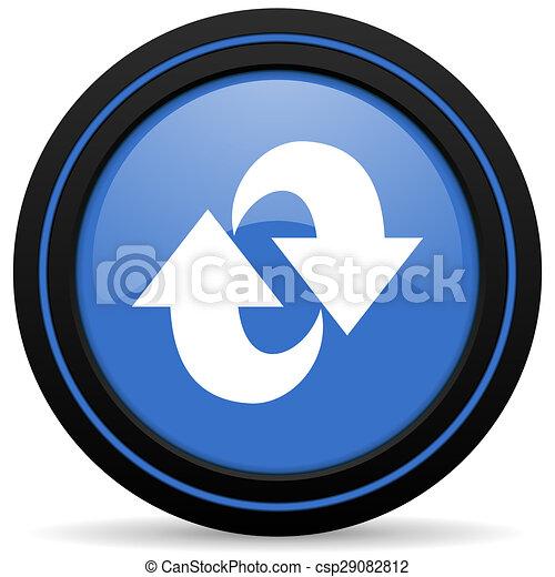 rotation icon refresh sign - csp29082812