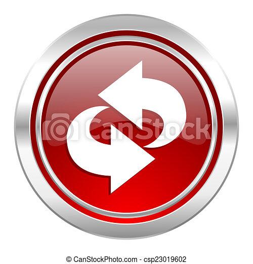 rotation icon, refresh sign - csp23019602