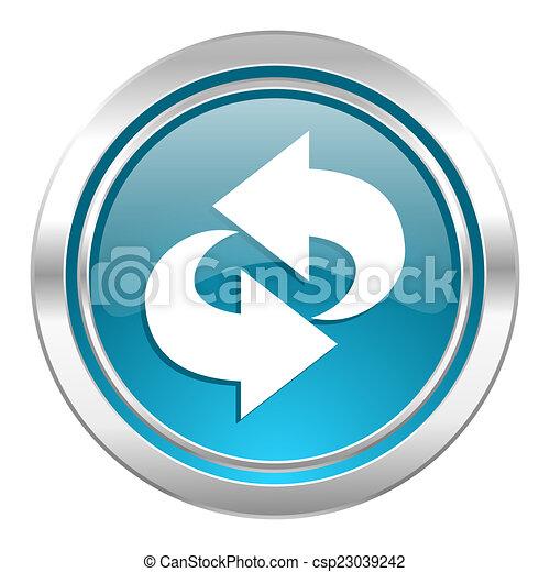 rotation icon, refresh sign - csp23039242