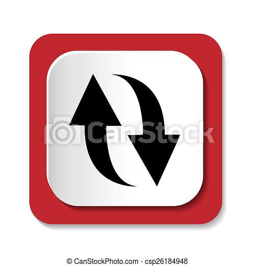 rotation icon refresh sign - csp26184948