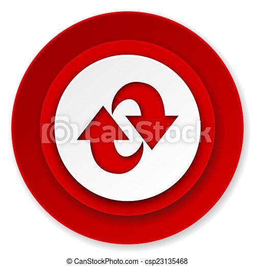rotation icon, refresh sign - csp23135468