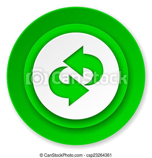 rotation icon, refresh sign - csp23264361