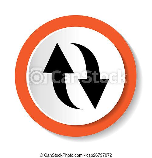rotation icon refresh sign - csp26737072