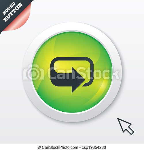 Rotation icon. Repeat symbol. Refresh sign. - csp19354230