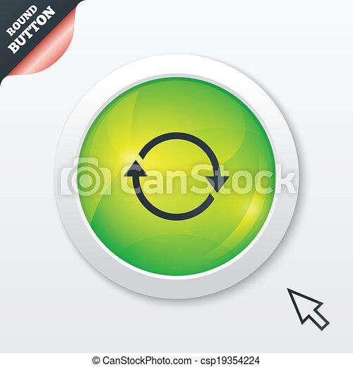 Rotation icon. Repeat symbol. Refresh sign. - csp19354224