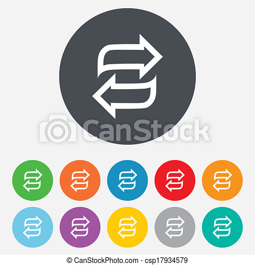 Rotation icon. Repeat symbol. Refresh sign. - csp17934579