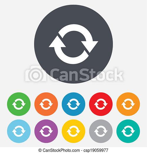 Rotation icon. Repeat symbol. Refresh sign. - csp19059977