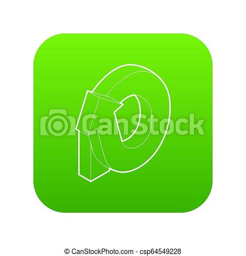 Rotation loop icon green - csp64549228