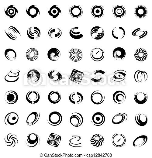 rotation., movimento, spirale - csp12842768