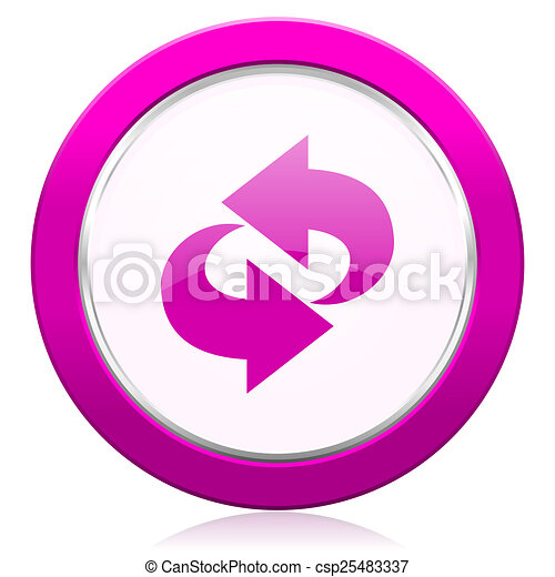 rotation violet icon refresh sign - csp25483337