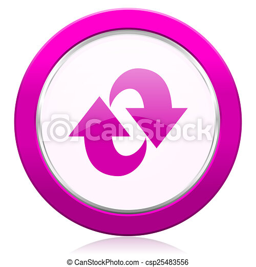 rotation violet icon refresh sign - csp25483556