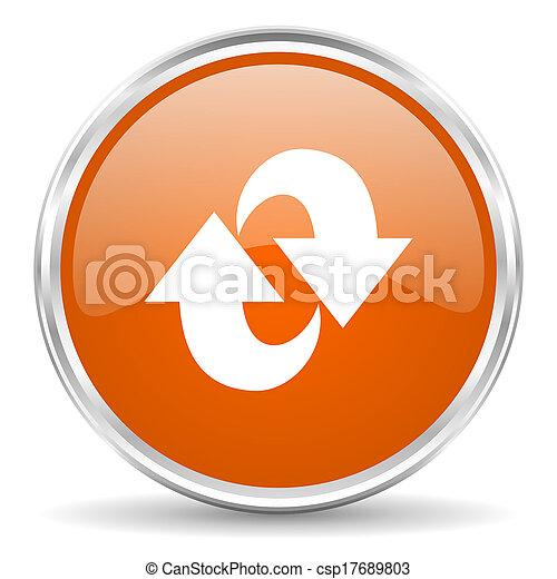 rotazione, icona - csp17689803