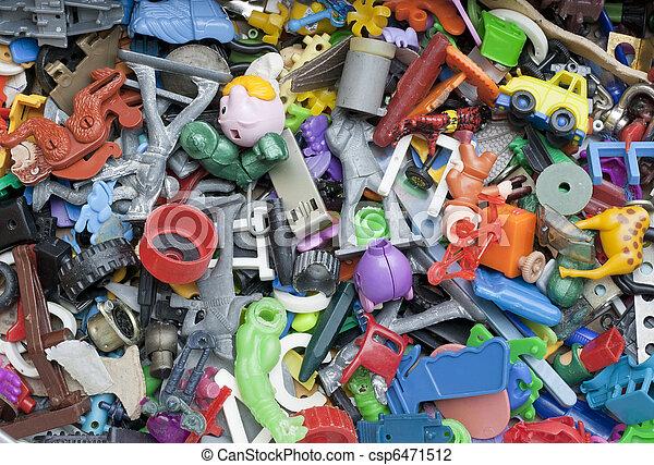 roto, olvidado, viejo, juguetes - csp6471512