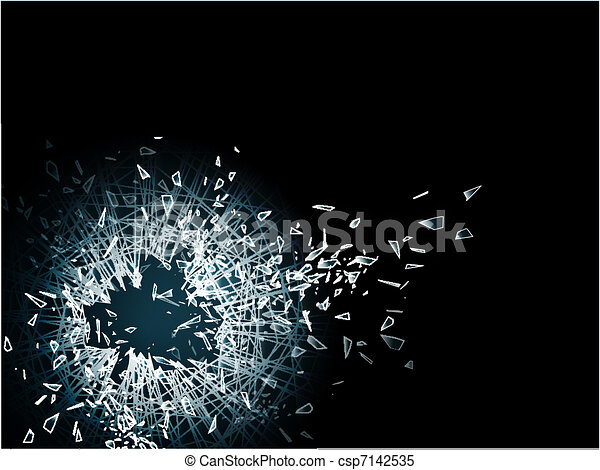 Papel de vidrio roto - csp7142535