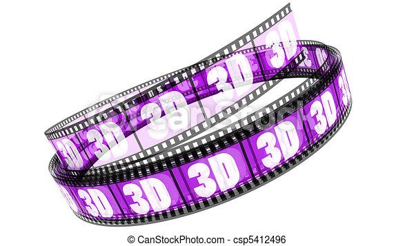 rotolato, film, 3d - csp5412496