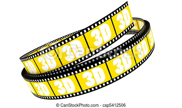 rotolato, film, 3d - csp5412506