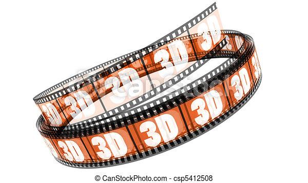rotolato, film, 3d - csp5412508