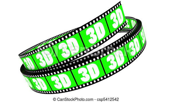 rotolato, film, 3d - csp5412542