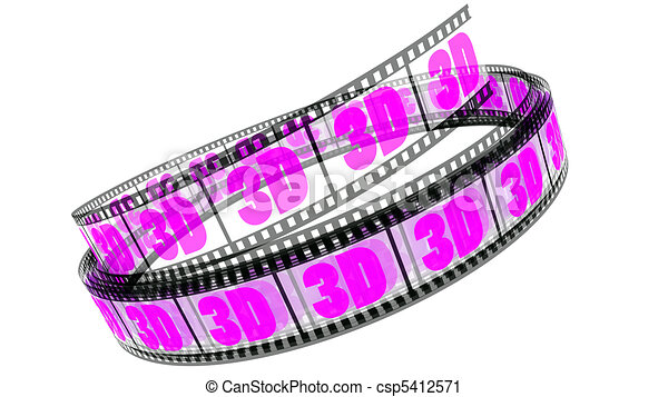 rotolato, film, 3d - csp5412571