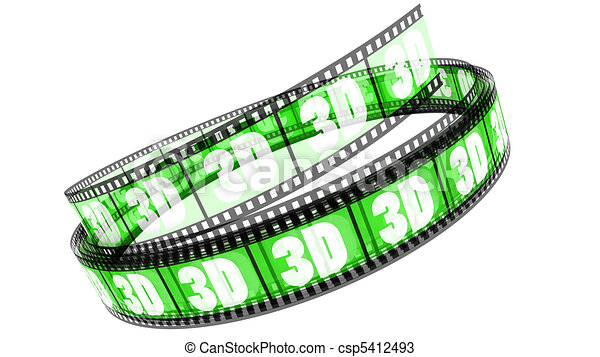 rotolato, film, 3d - csp5412493