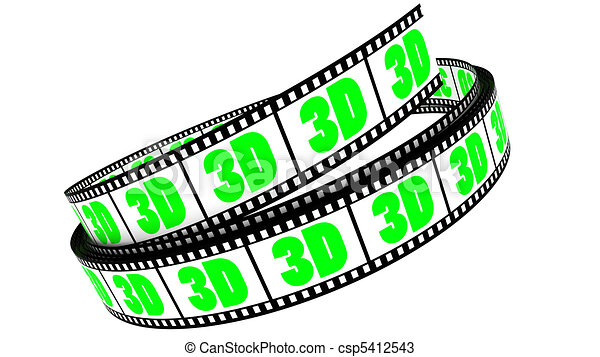 rotolato, film, 3d - csp5412543