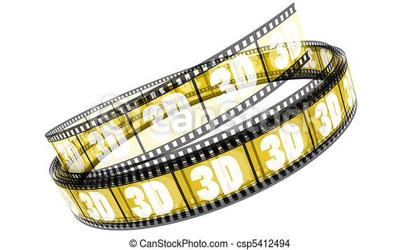 rotolato, film, 3d - csp5412494