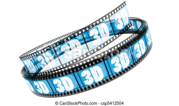 rotolato, film, 3d - csp5412504