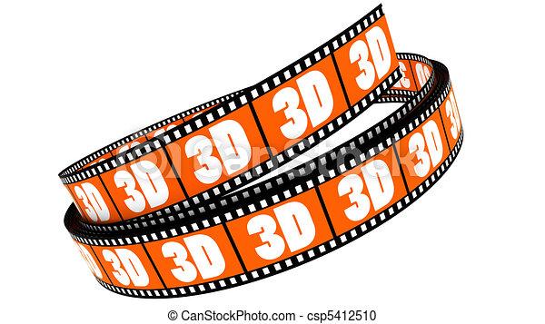 rotolato, film, 3d - csp5412510