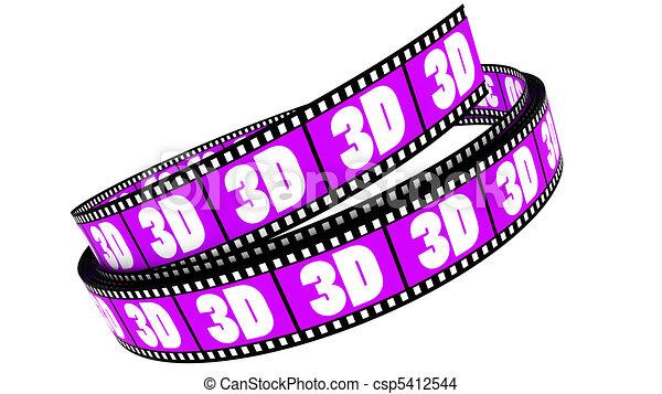rotolato, film, 3d - csp5412544