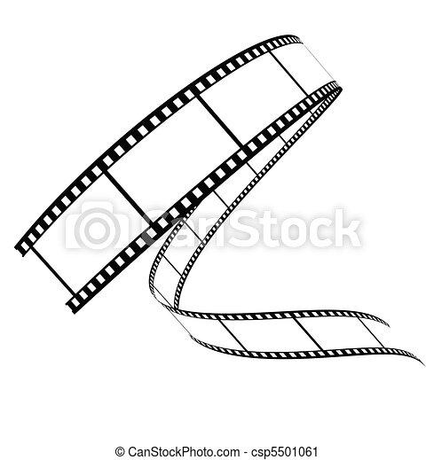 rotolato, giù, vettore, film - csp5501061