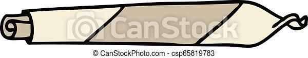 rotolato, mano, articolazione, disegnato, quirky, cartone animato - csp65819783