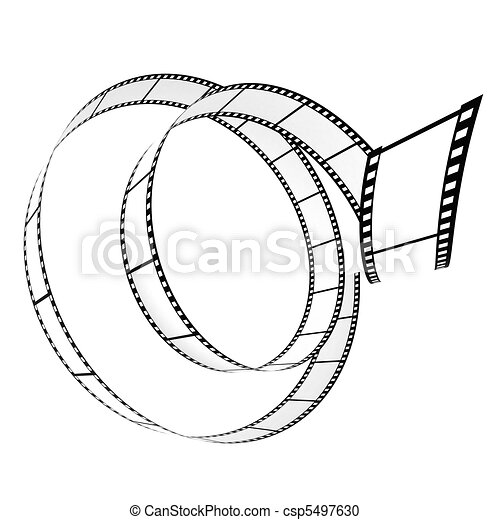 rotolato, segmento, su, film, vuoto - csp5497630