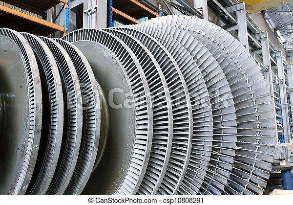 rotor, turbina, vapor - csp10808291