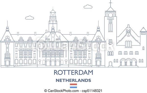 Rotterdam City Skyline, Netherlands - csp51148321